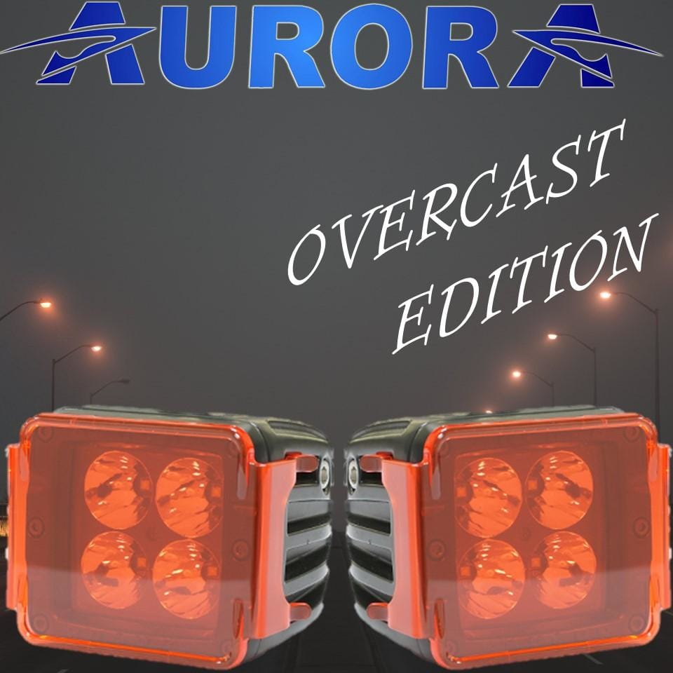 Aurora overcast edition amber led light pods