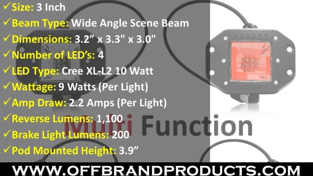 led brake light and led reverse light specs
