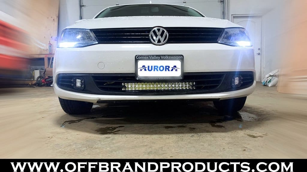Volkswagen jetta light bar aurora 20 inch curved