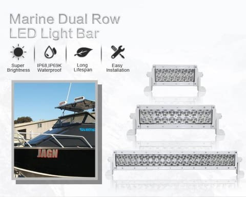 Aurora 20 Inch Marine White LED Light Bar - 17 120 Lumens