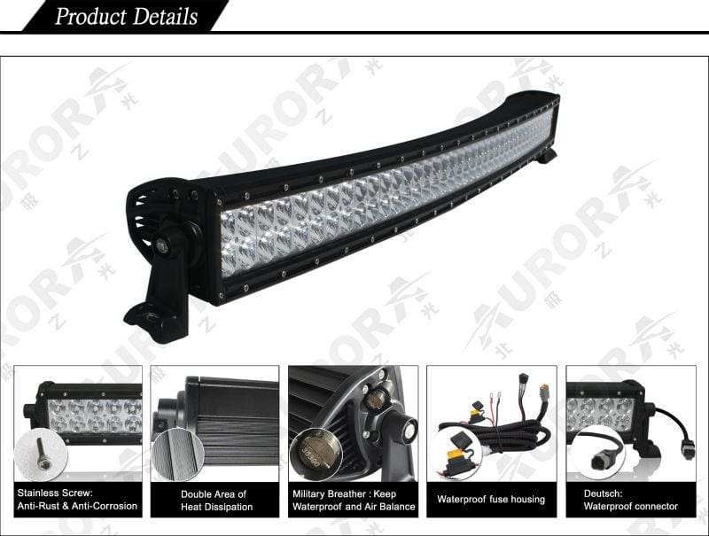 aurora curved LED light bar