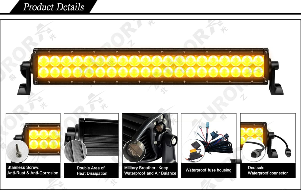 aurora amber led light bar