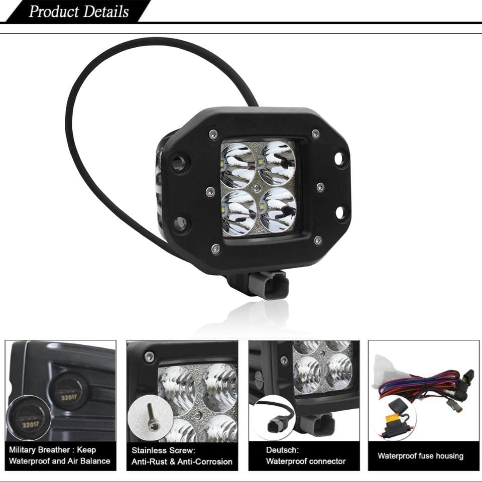 Aurora LED flush mount pods