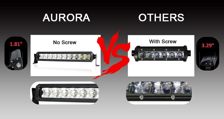 aurora thin led light bar nssr series