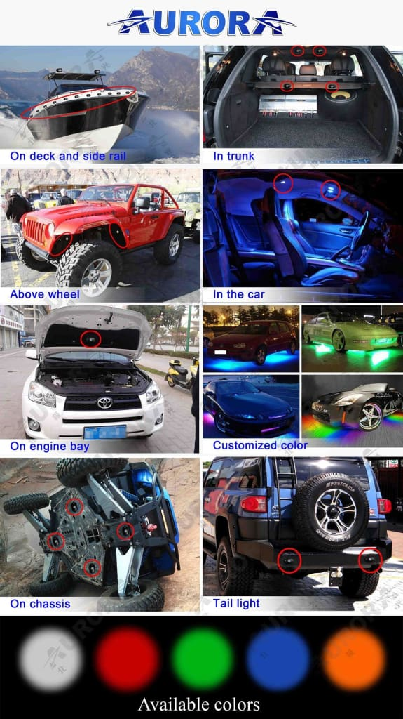 aurora led rock lights uses