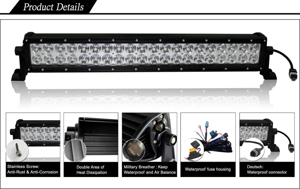 Aurora 50 Inch Light Bar Plus Mounts for Jeep Wrangler JK