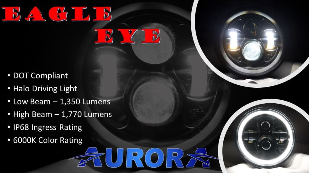 aurora eagle eye led headlights