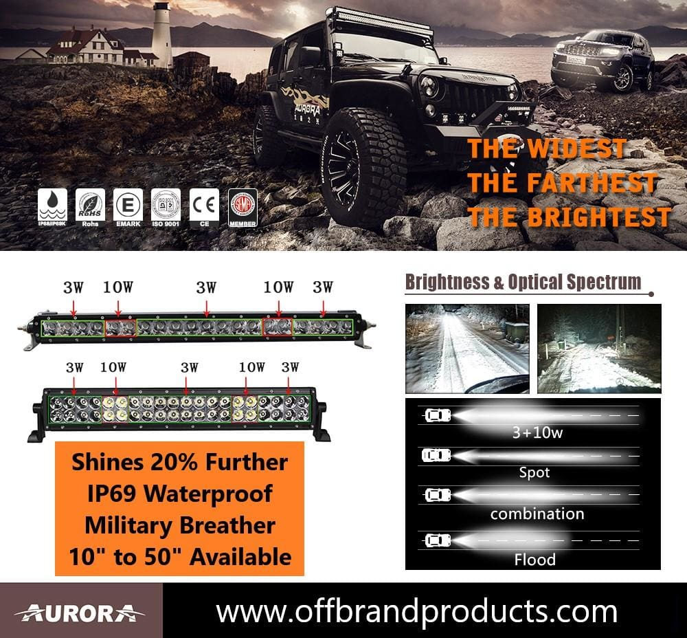 aurora led hybrid series led light bar