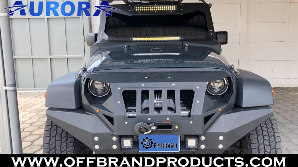aurora-jeep wrangler led light bar mount