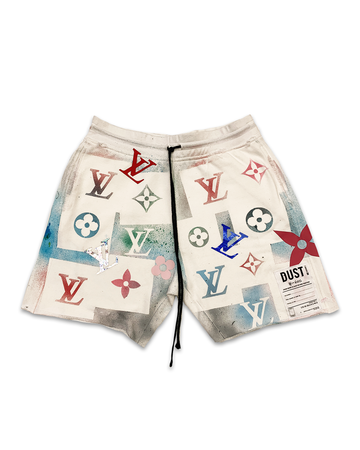 This Is Not LV White Shorts