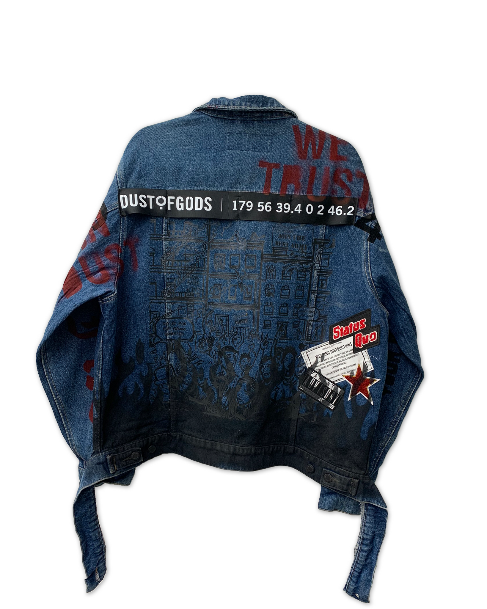 4TH EDITION SEEK WHAT SETS YOUR SOUL ON FIRE DENIM JACKET