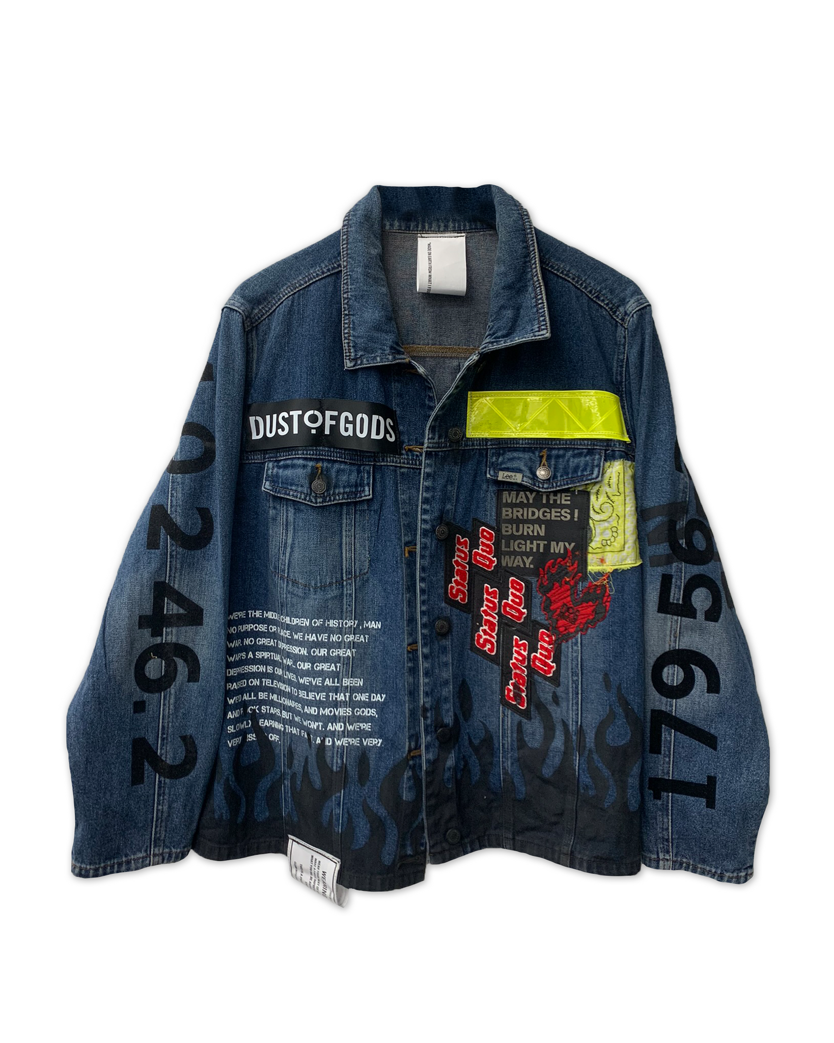 6TH EDITION SEEK WHAT SETS YOUR SOUL ON FIRE DENIM JACKET