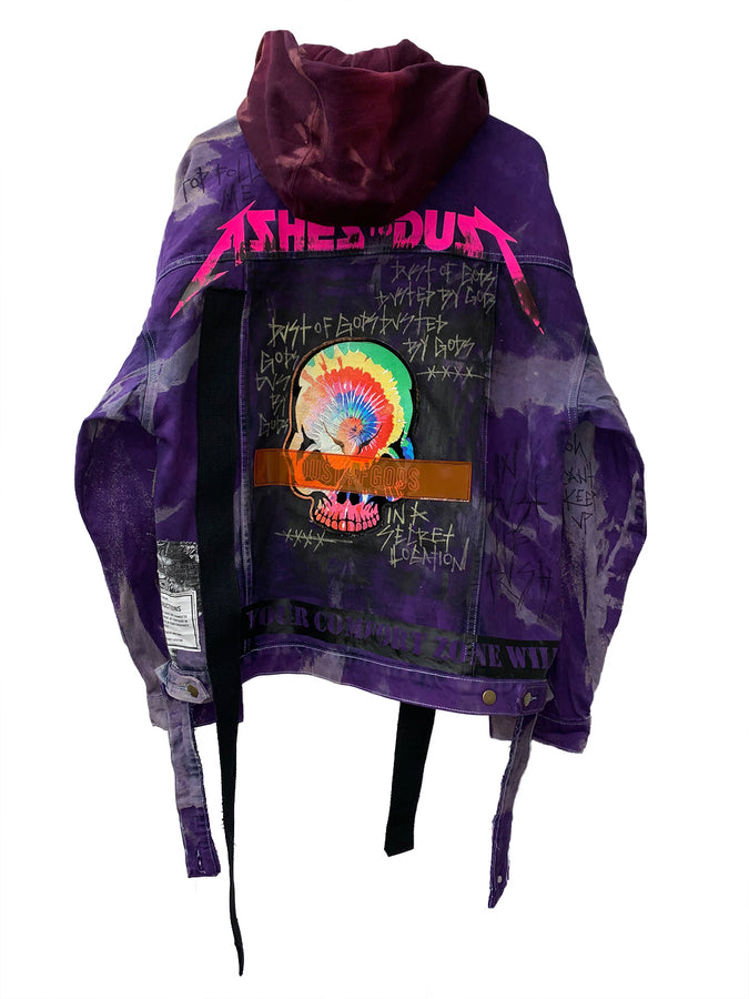 Purple Hand Dyed Denim Jacket