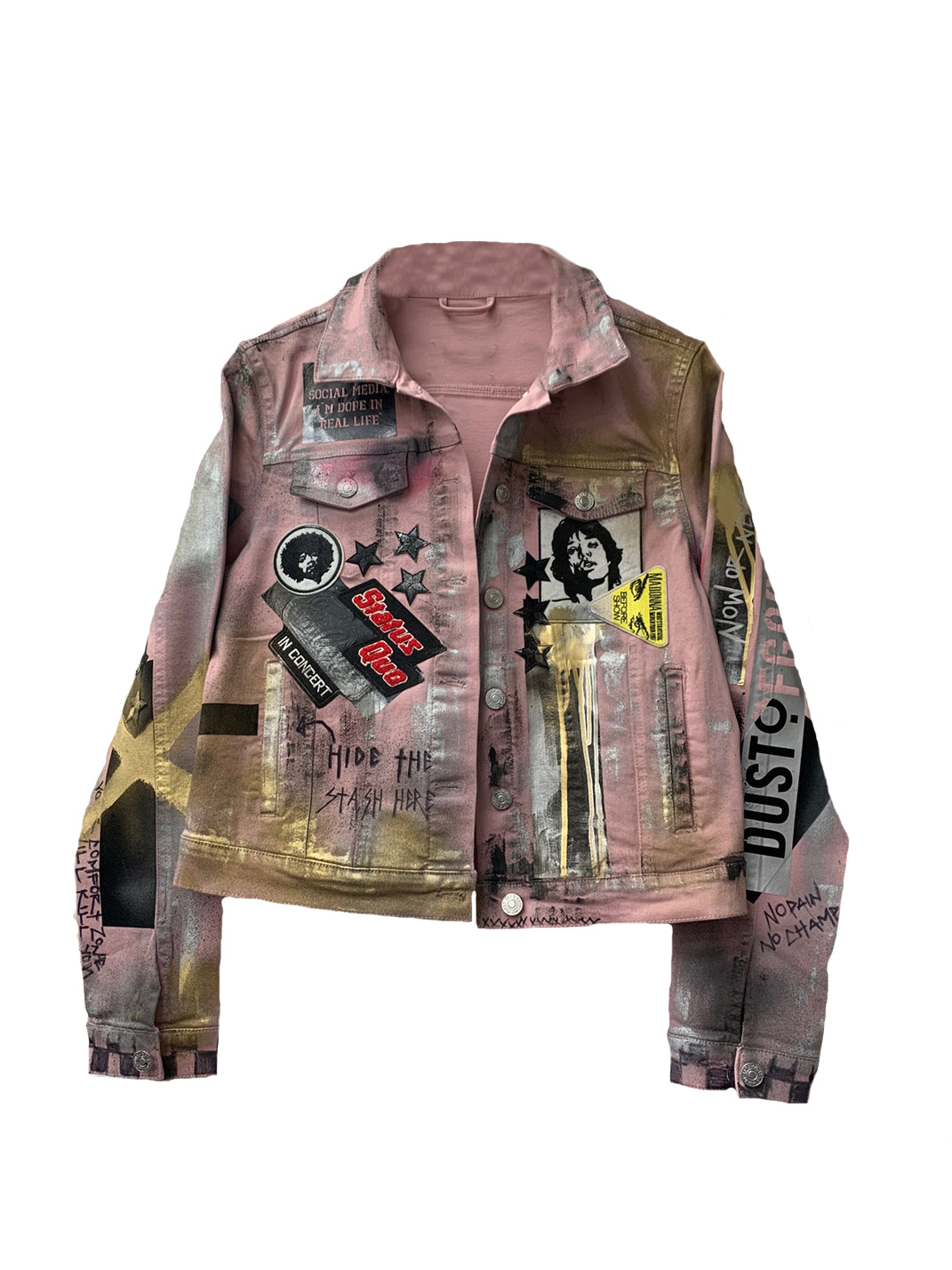 Pink Denim Dust Jacket