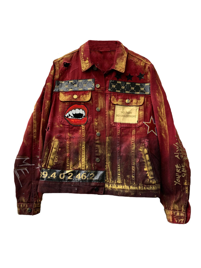 Red Denim Dust Jacket