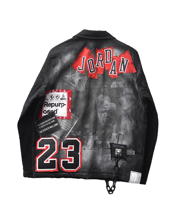 REPURPOSED JORDAN BLACK DENIM JACKET