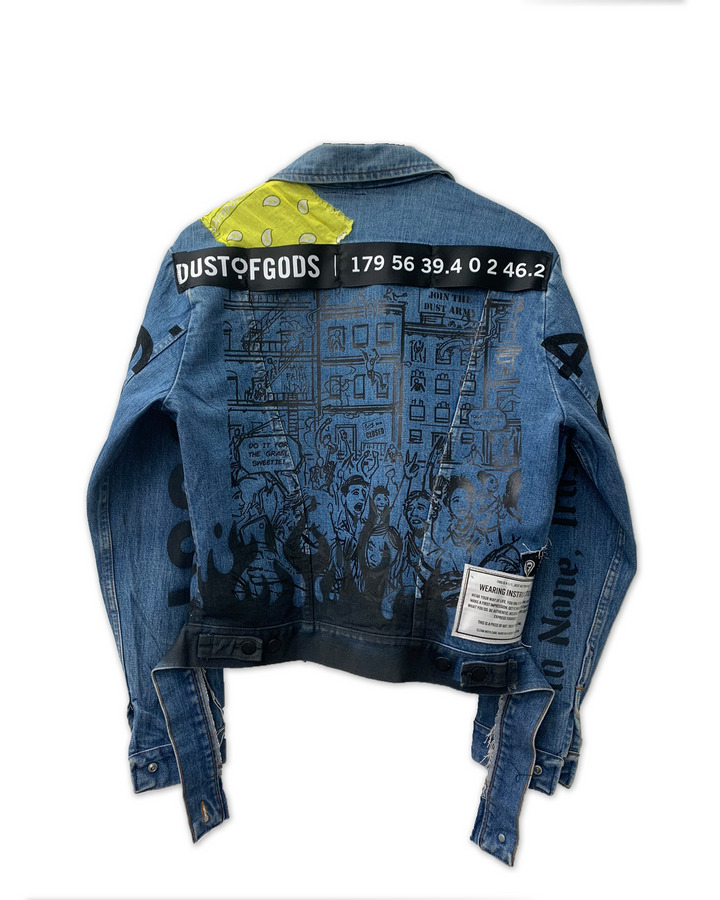1ST EDITION SEEK WHAT SETS YOUR SOUL ON FIRE DENIM JACKET