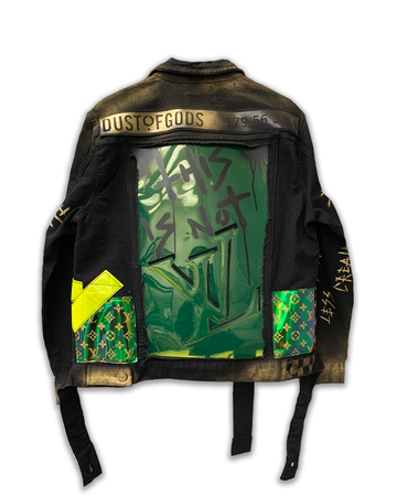 This Is Not LV Black & Green Edition Jacket