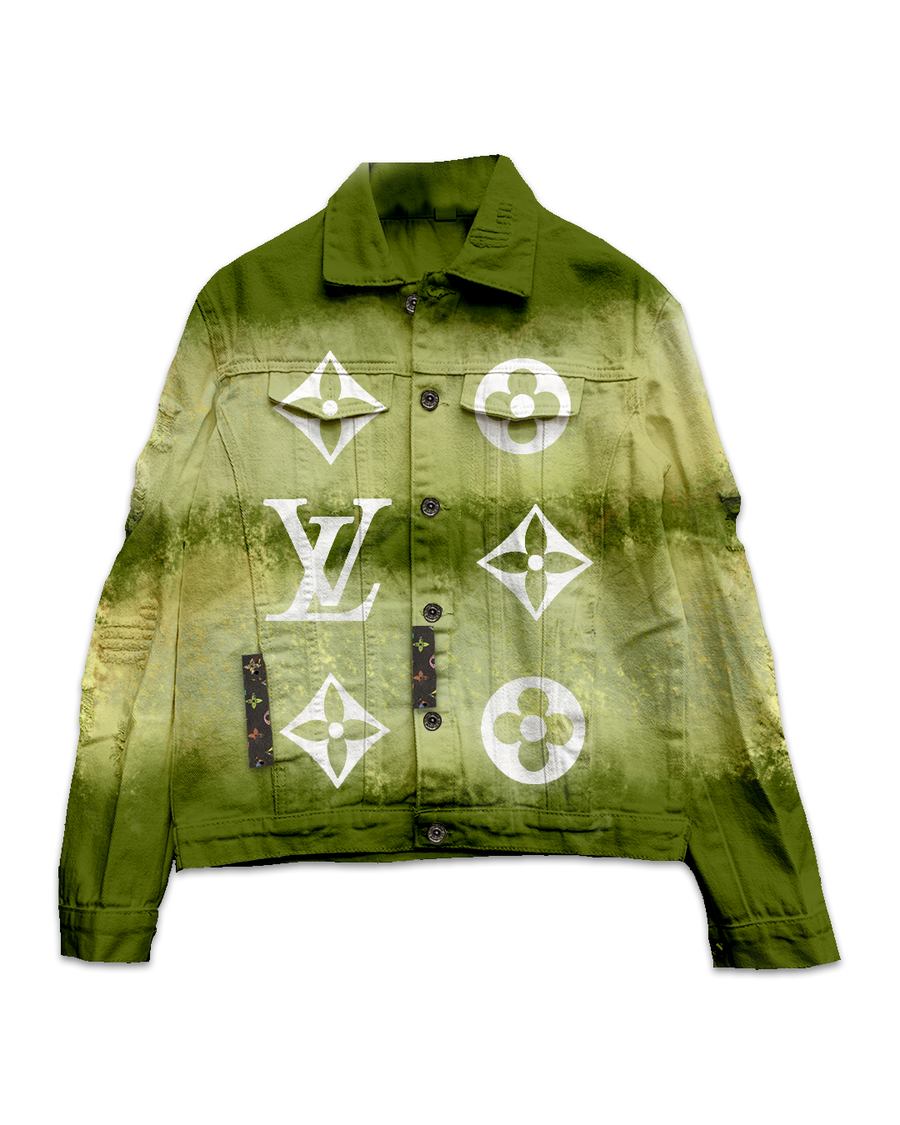 This Is Not LV Green Sky Denim Jacket
