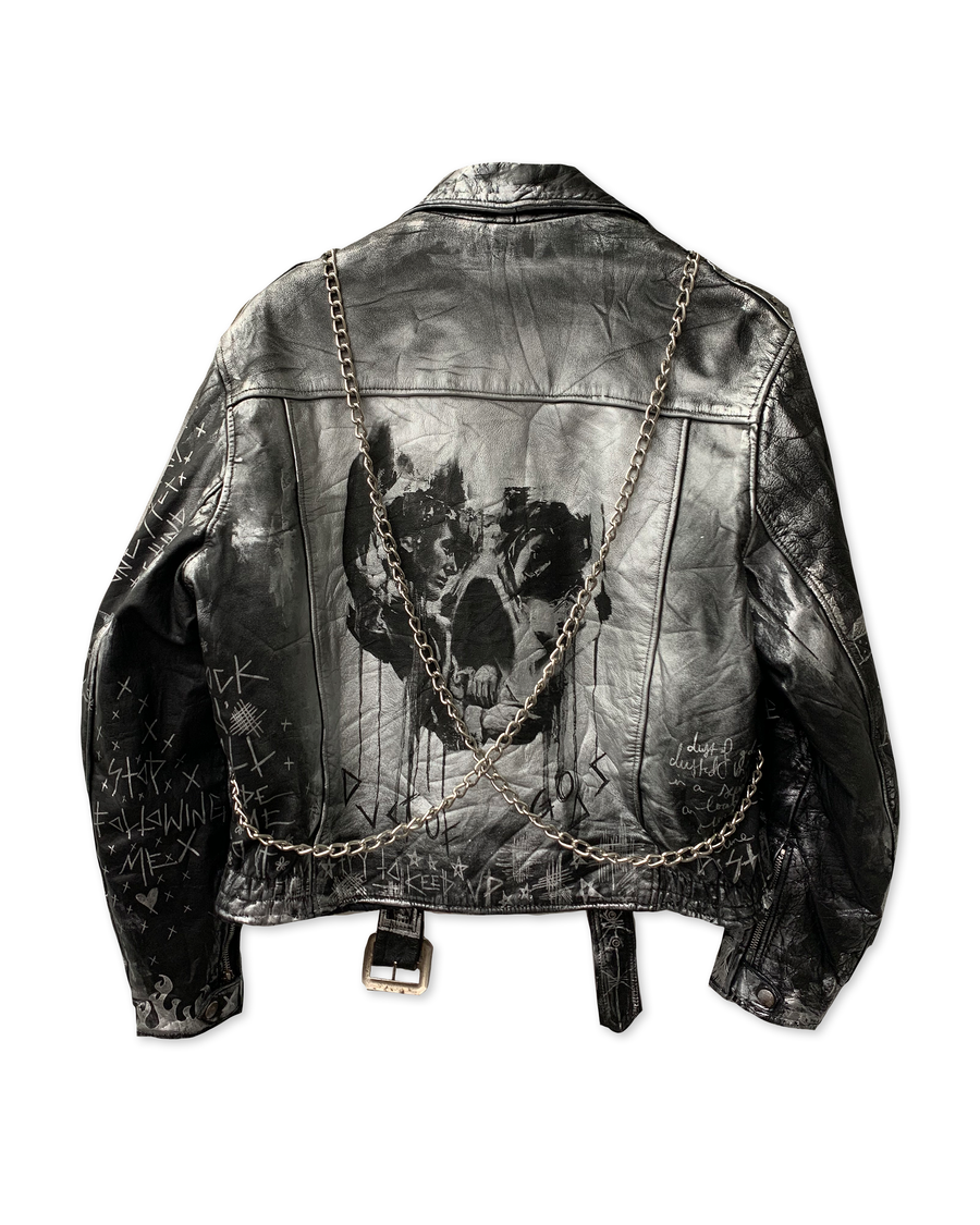 Chains and Dust Leather Jacket