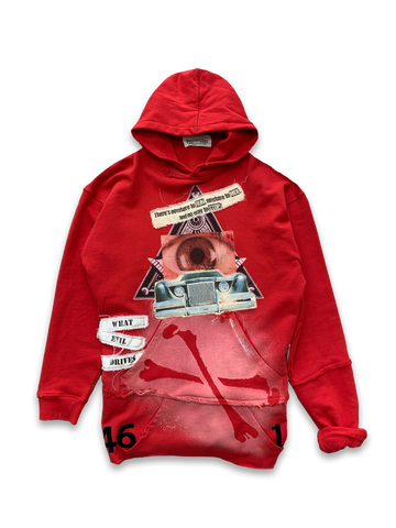The Car Red Extended Hoodie