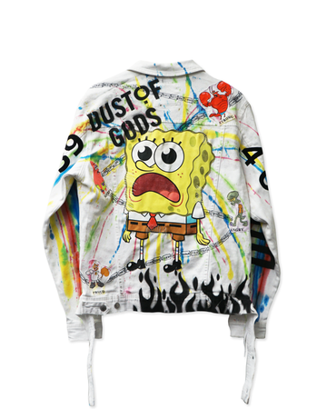 DUST OF SPONGEBOB TIE-DYE DENIM JACKET