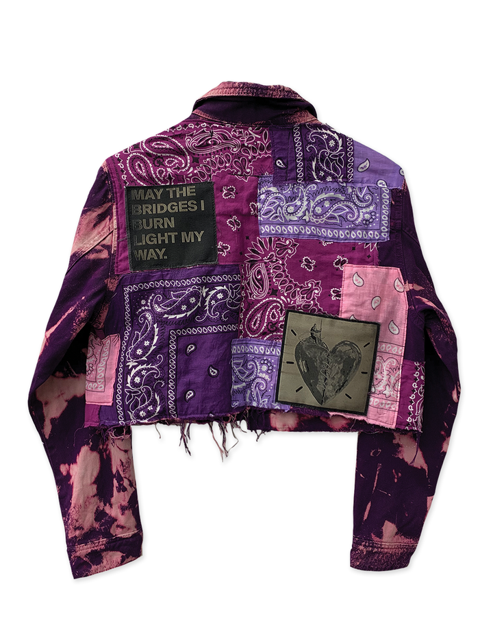 Cropped Purple Bandana Jacket
