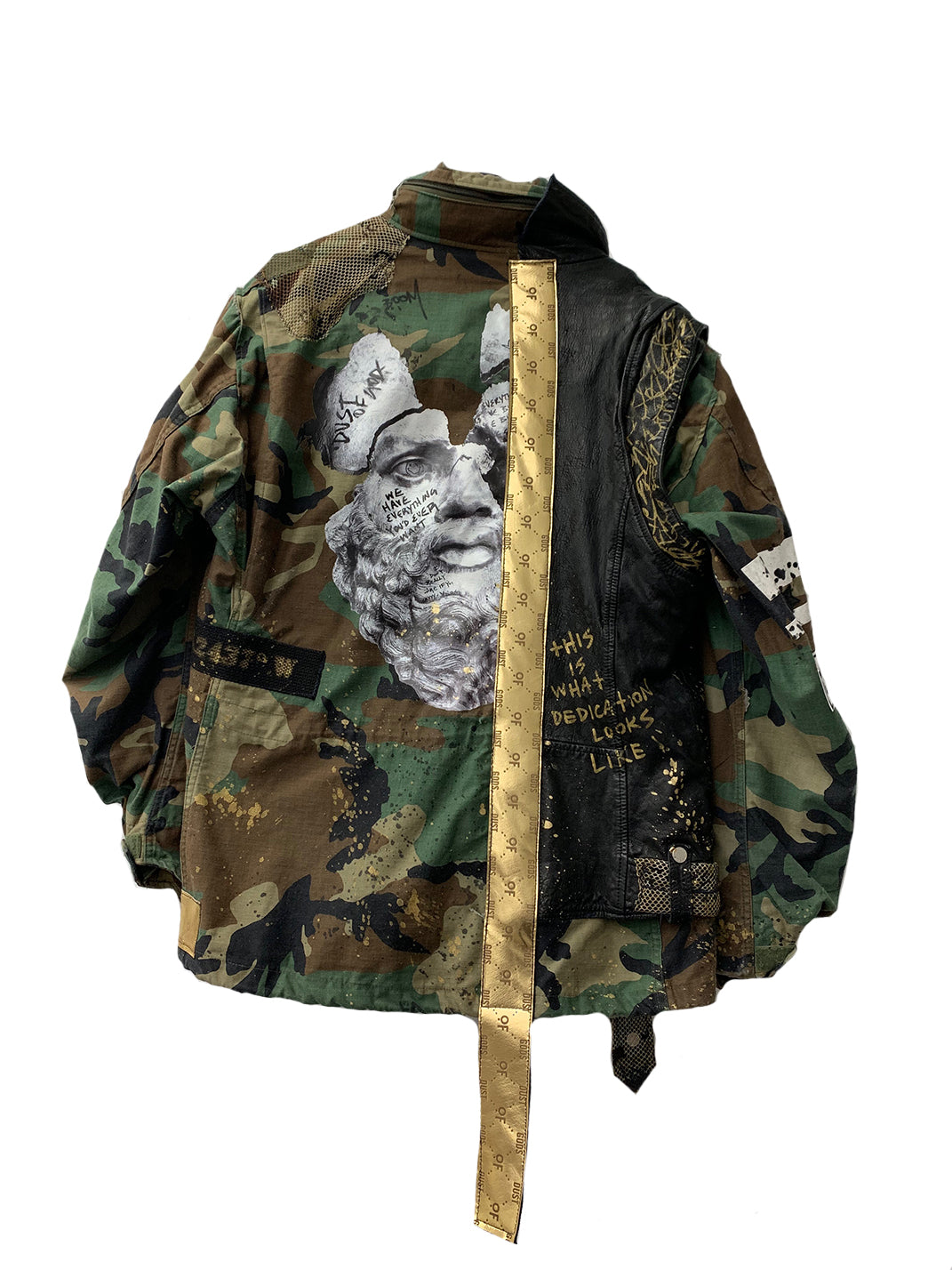 Leather X Camouflage Jacket