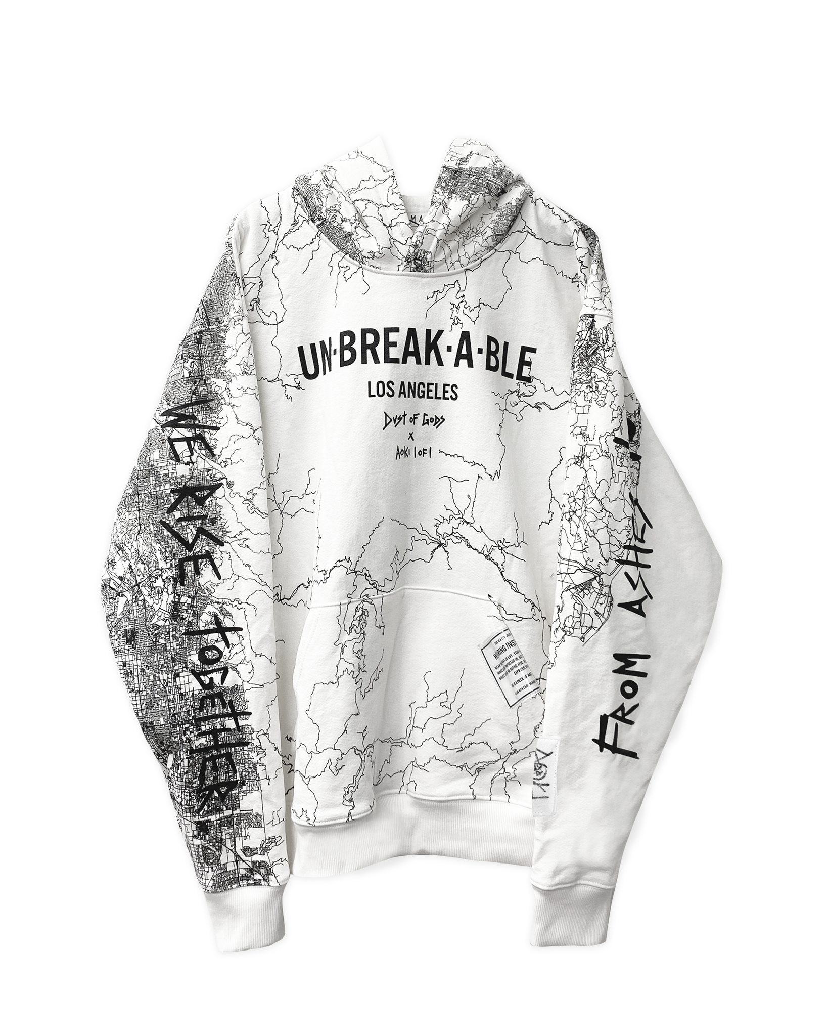 UN●BREAK●A●BLE LOS ANGELES WHITE HOODIE