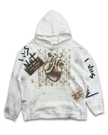 Heart Of Gold White Hoodie