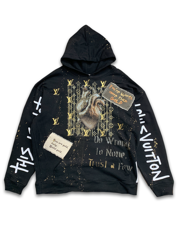 Heart of Gold Black Hoodie