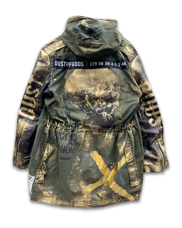 Golden Skull Military Jacket