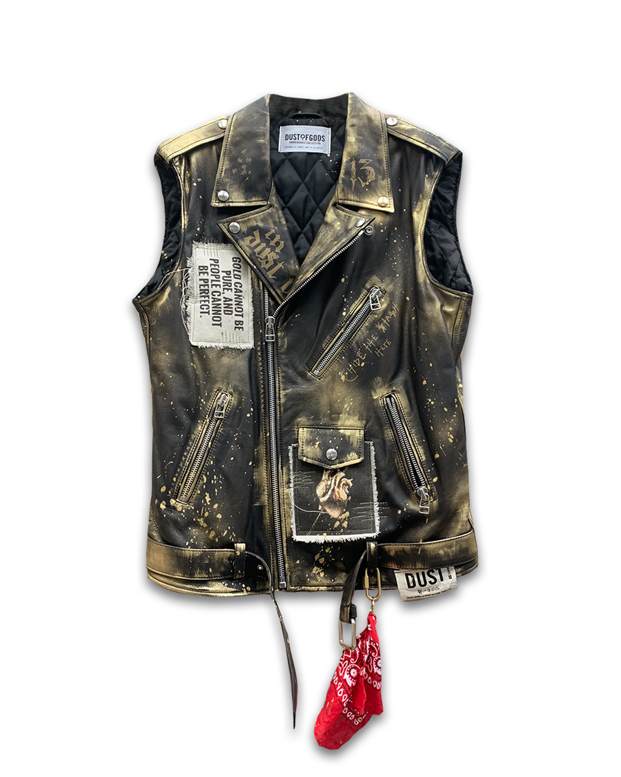 Gold Dust Leather Vest