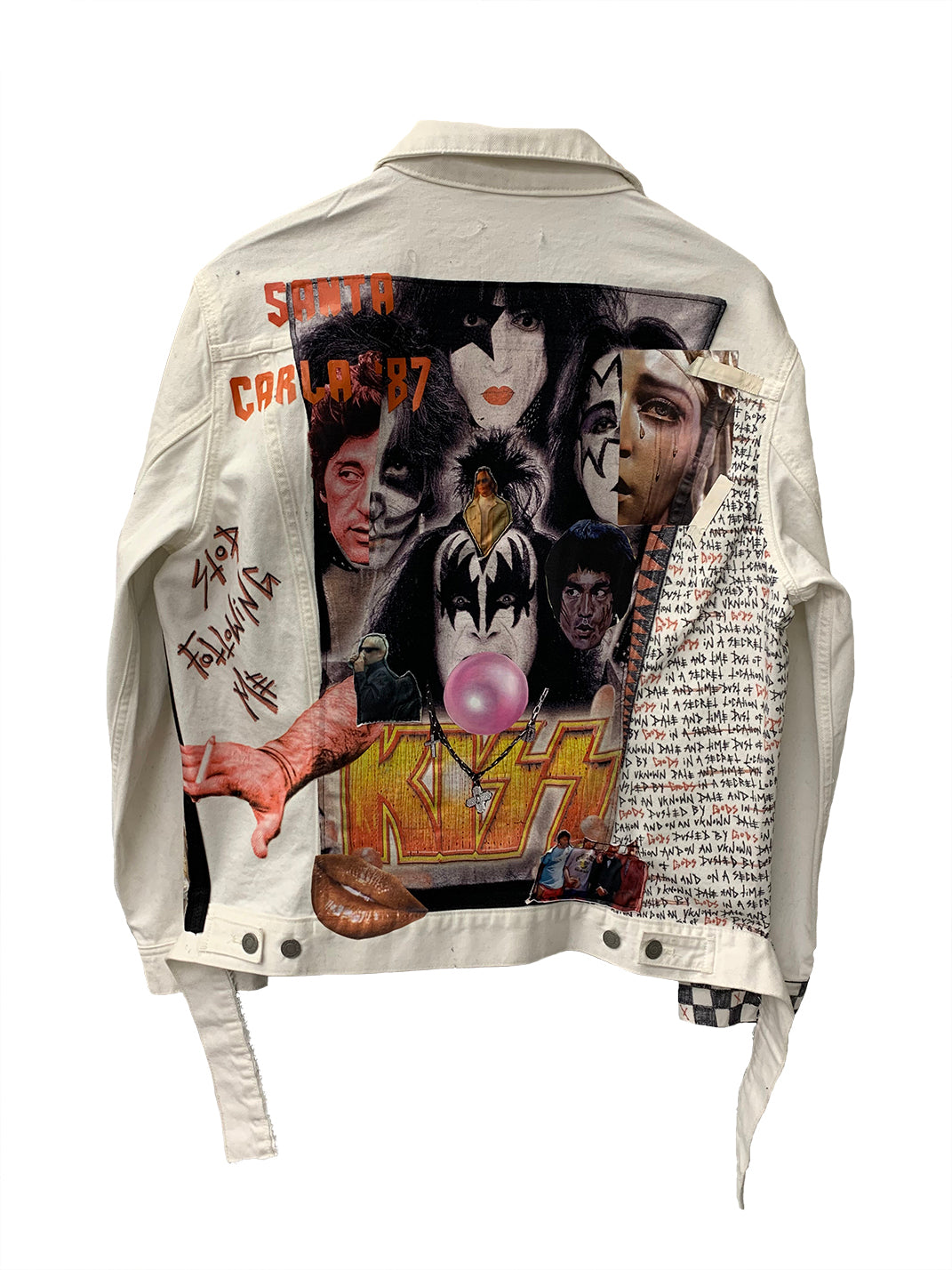'Dusted By Gods' White Denim Jacket