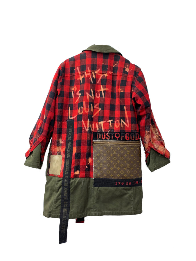 This Is Not LV Knee Length Jacket