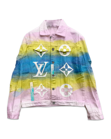 This Is Not LV Pink Sky Denim Jacket