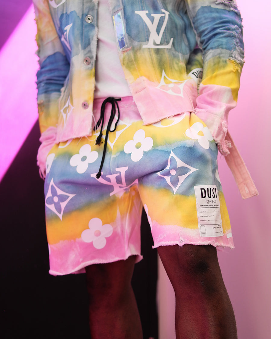 This Is Not LV Pink Sky Shorts