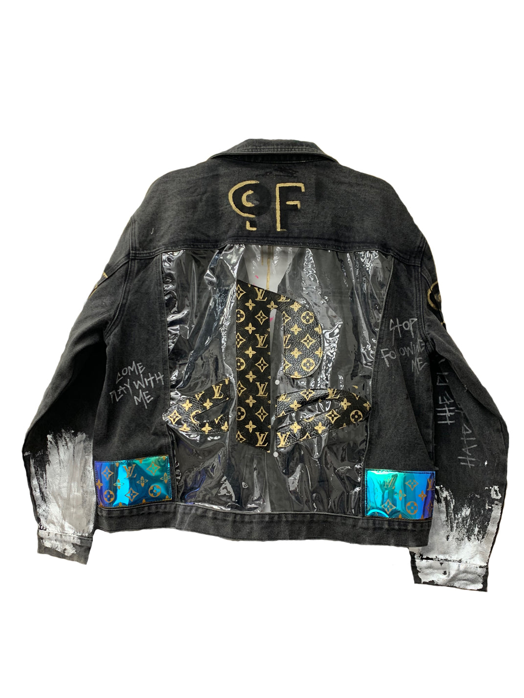 Come Play With Me Black Denim Jacket