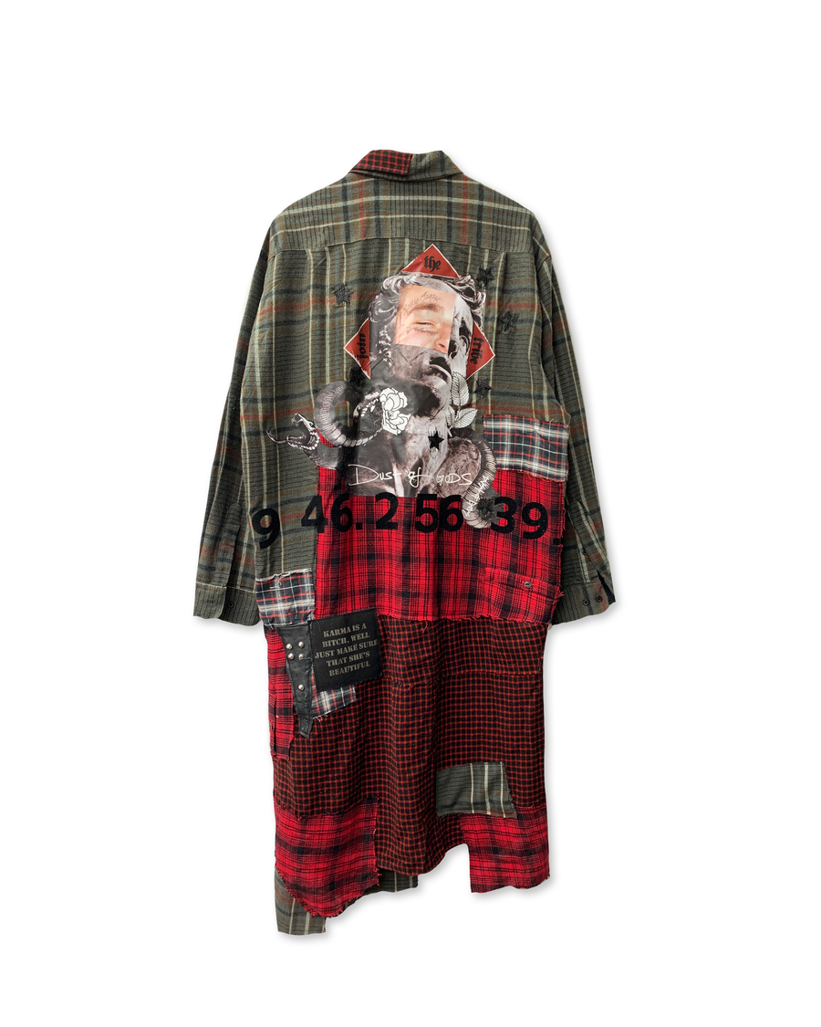 God of Post Malone Patchwork Coat