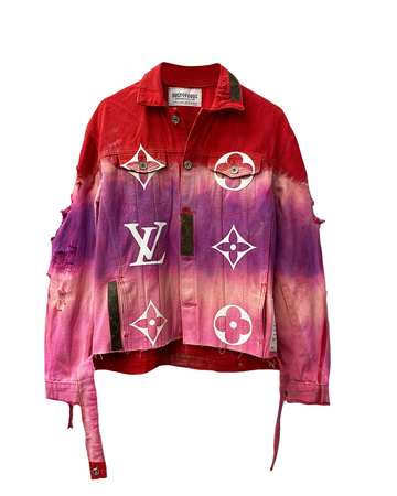 This Is Not LV Red Sky Denim Jacket
