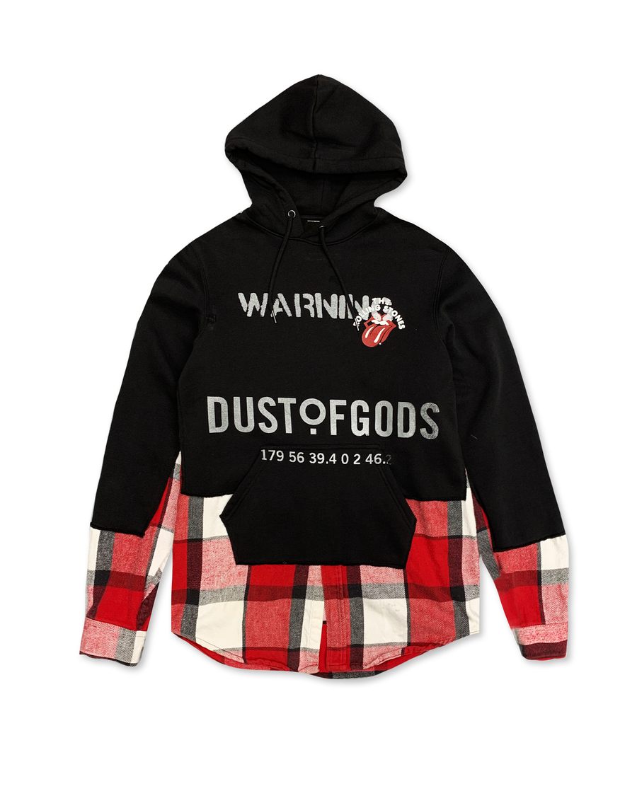 Paint it Black and Red Hoodie