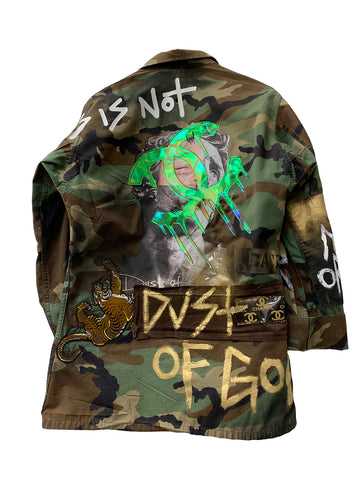 This is not Chanel camouflage jacket