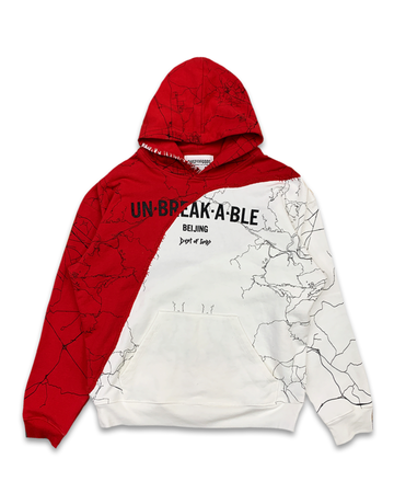 Unbreakable Red & White One Hoodie