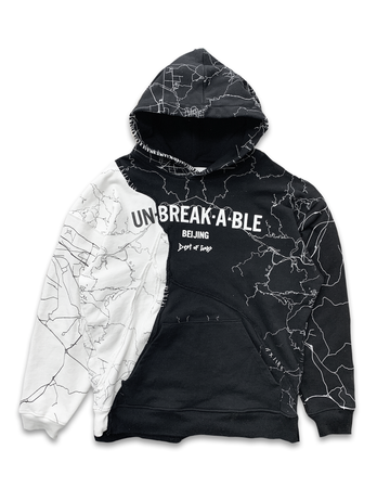 Unbreakable Black & White Two Hoodie