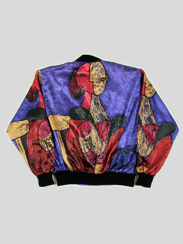Bomber Satinada Picasso Vintage