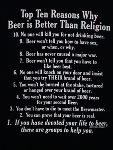 Playera Beer > Religion
