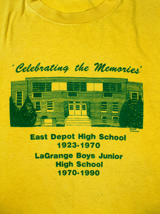 Playera East Depot High School Vintage