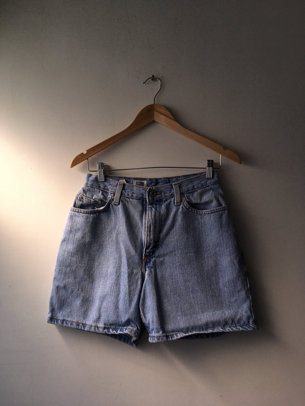 Mom Shorts Mezcilla