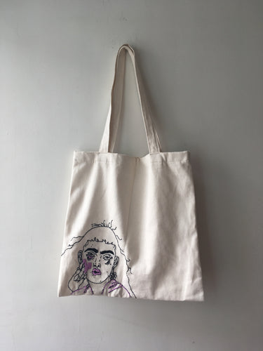 Tote Bag Bordada Lila
