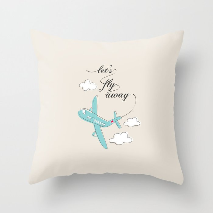 fly, flying, cloud, sky, love, air plan, romance, gift for her, gift for him, valentine, travel, traveler, lovers, pillow, home decor, deco